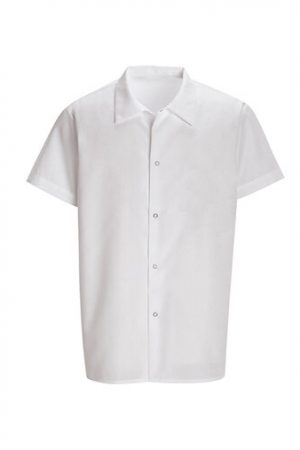 Pocketless White Cook Shirt